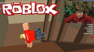 FALLING DOWN A STAIRCASE!! | Roblox Broken Bones 2 | Kid Gaming