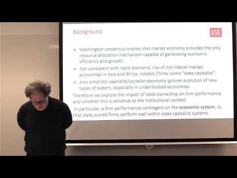 State Capitalism, Economic Systems and the Performance of St