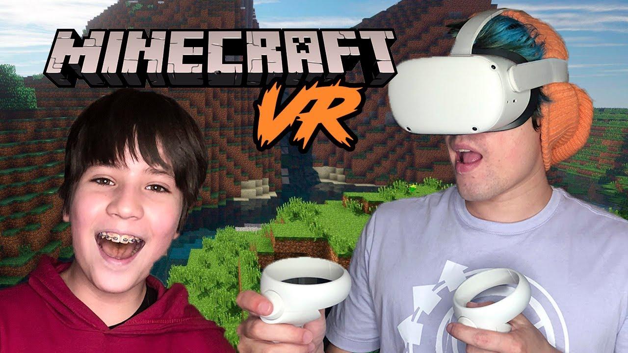 MINECRAFT VR! REALIDADE VIRTUAL COM MEU IRMÃO - CANAL DO CLEPTON