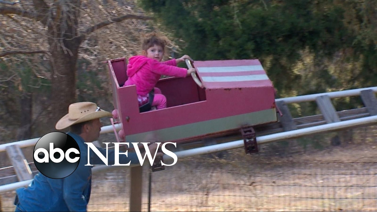 grandpa builds backyard roller coaster for granddaughter youtube