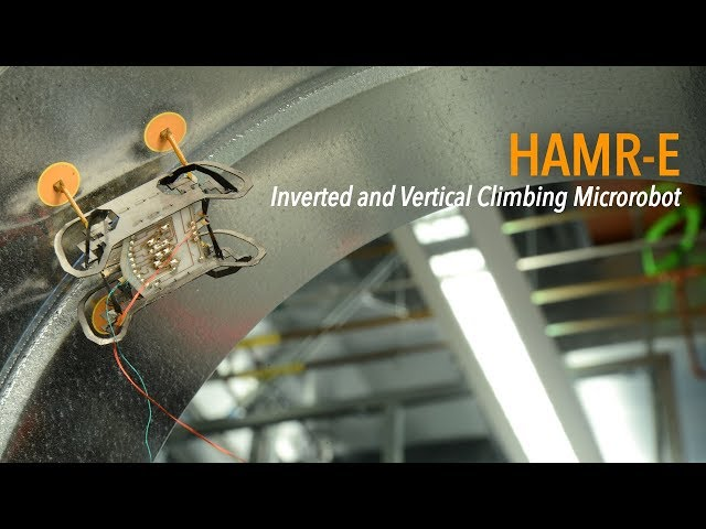 HAMR-E: Inverted and Vertical Climbing Microrobot