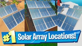 Visit a Solar Array in the Snow, Desert and the Jungle - Fortnite 14 Days Of Summer Challenge