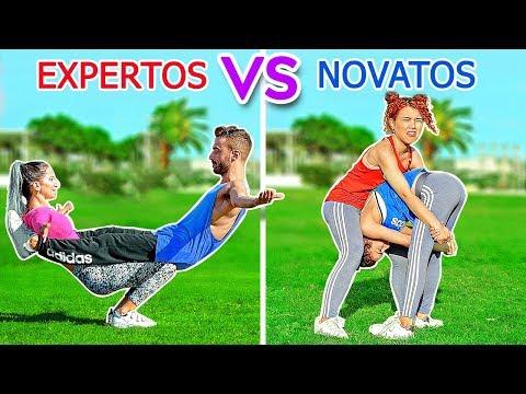 EL RETO ACROBTICO DEFINITIVO! EXPERTOS VS NOVATOS||Trucos imposibles por 123GO! Challenge