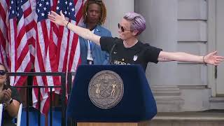 'We have to be better:' Megan Rapinoe gives speech at World Cup parade in New York