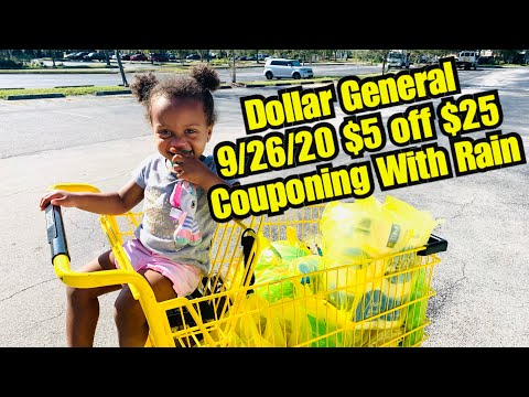 Dollar General Saturday 9/26/20 $5 Off $25