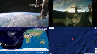 Sunset Over New Zealand - ISS Space Station Earth View LIVE NASA/ESA Cameras And Map - 93