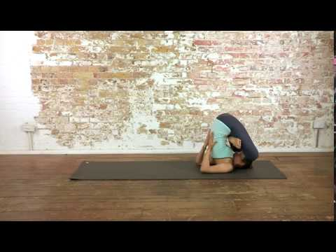 26 yoga advanced  supported embryo pose  youtube