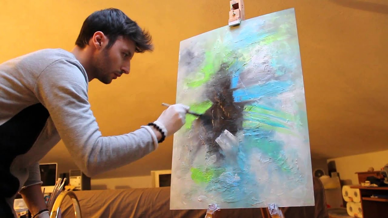 Painting Abstract Fluo - Crisco Art