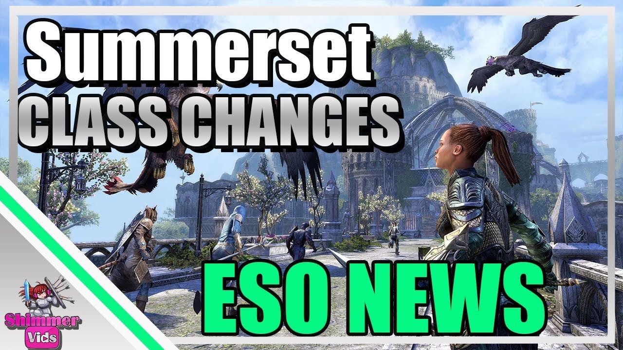 ESO: Summerset Class Changes