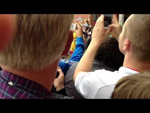 Brazil Olympic Football Team Arriving at Old Trafford - Par