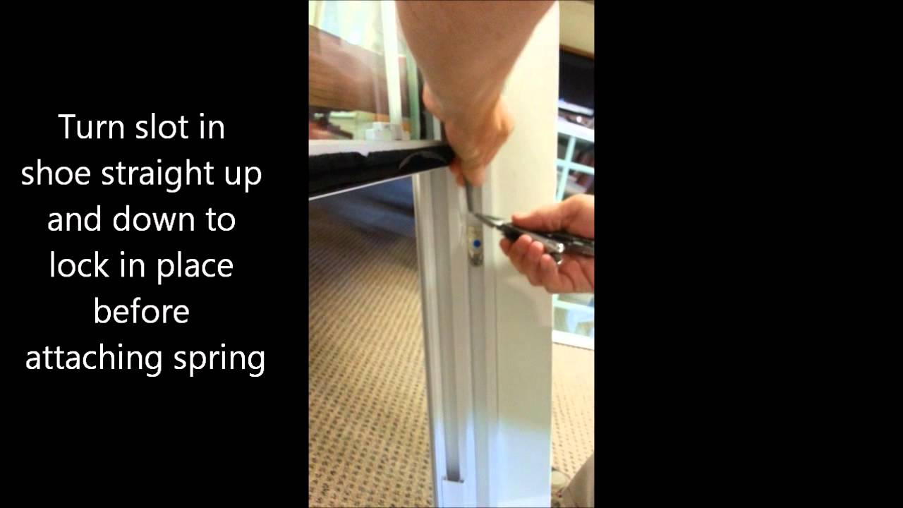 Replacing A Vinyl Window Balance Shoe Youtube