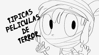 TÍPICAS PELÍCULAS DE TERROR | DRAW MY WEEK