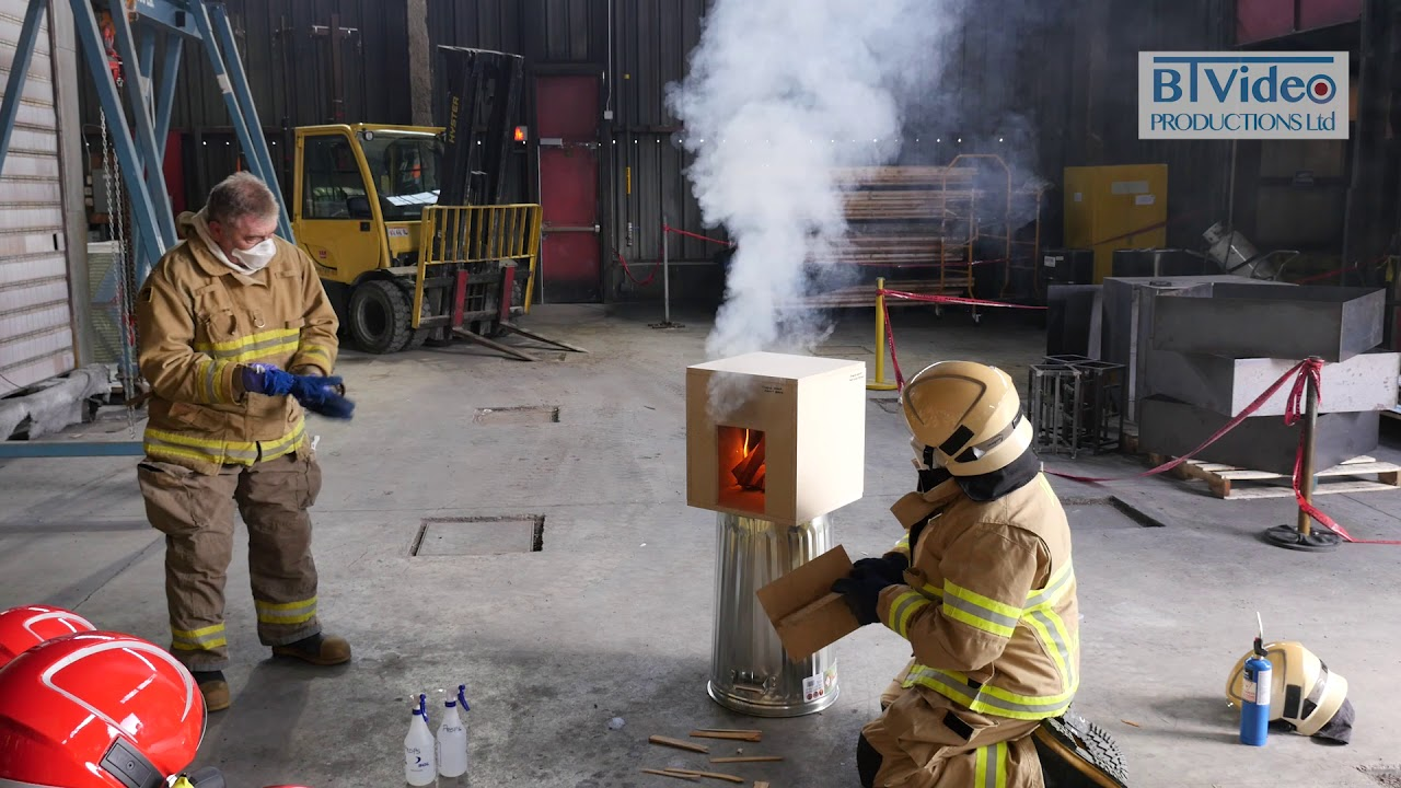 Burning dollhouses - A cost effective way to demonstrate