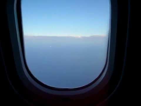 Ufo/light ship filmed from plane window