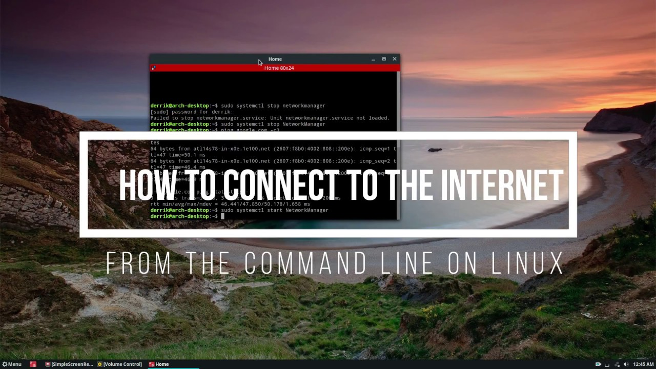 How To Connect To The Internet From The Command Line On Linux