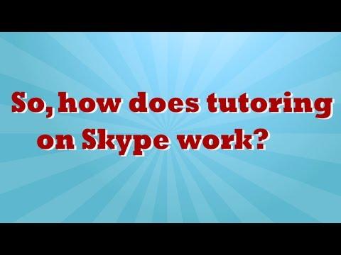 How Online Math Tutoring via Skype Works