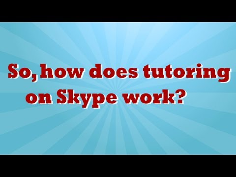 How Online Math Tutoring via Skype Works