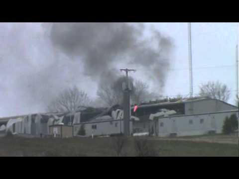 Gas Compressor Station--  Explosion -- Smoke....