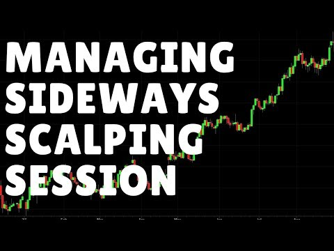 Managing a Scalping Forex Trading Session When Price Goes Sideways