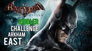 Batman Arkham Asylum - Arkham East Riddler Challenge (Trophies, Riddles, Teeth and Spirits)