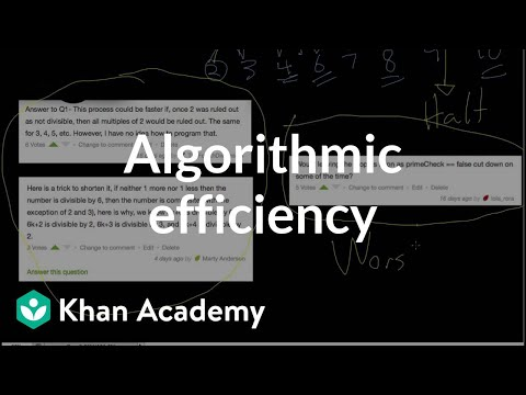 Algorithmic efficiency | Journey into cryptography | Computer Science | Khan Academy