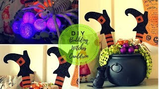 DOLLAR TREE HALLOWEEN DIY|BUBBLING WITCHES CAULDRON