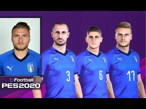 EFootball PES 2020 Italy Faces, Stats & Overalls | PS4
