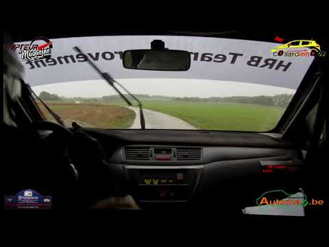Rallye Mettet  2019 - P. Hellings & N. Heusicom - Mitsubishi Lancer Evo 9 N° 10 - 4 Spéciales
