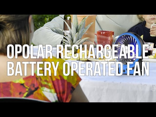 OPOLAR Rechargeable Battery Operated Portable Fan