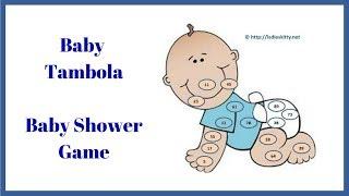 Baby Tambola Game -baby Shower Game
