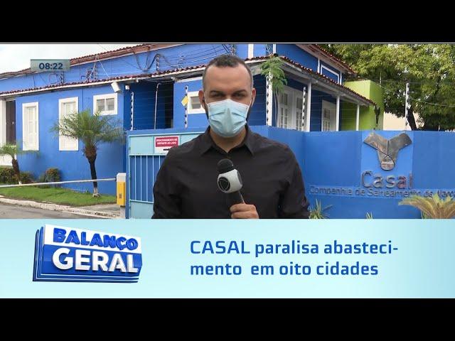 Manutenção programada: CASAL paralisa abastecimento de água em oito cidades