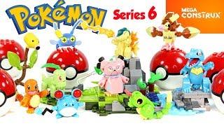 Pokémon Mega Construx Chikorita vs. Cyndaqui & Totodile vs. Snubbull plus Series 6 Buildable Figures