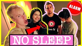 ALARM CLOCK PRANK (up all night) | COUPLE VS COUPLE