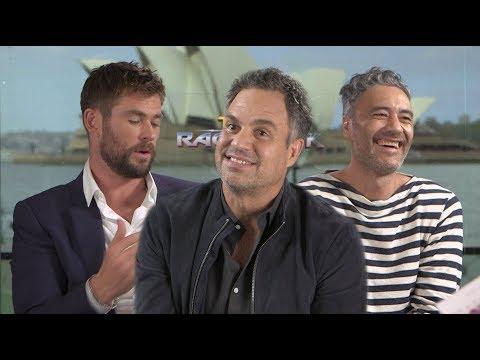 Interview Chris Hemsworth, Mark Ruffalo, & Taika Waititi