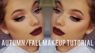 Autumn/Fall Make up Tutorial - Collab w/ Glitteralittle! | Rachel Leary