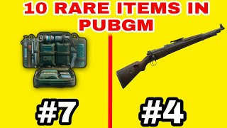 TOP 10 RARE ITEMS IN PUBG MOBILE |