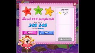 Candy Crush Saga Level 659   ★★★   NO BOOSTER
