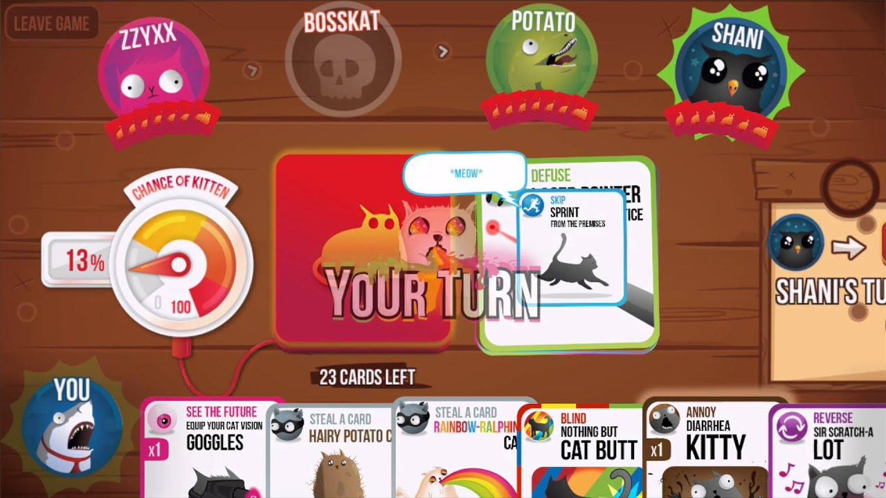 Exploding Kittens Online Multiplayer Youtube