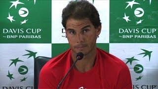 """Coupe Davis: Nadal """"heureux d'être de retour"""" sur un tour"""