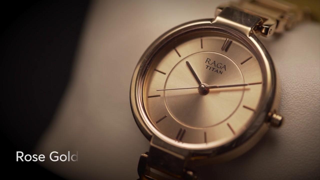 Titan Raga Viva Rose Gold Dial Analog Watch For Women 2608wm01