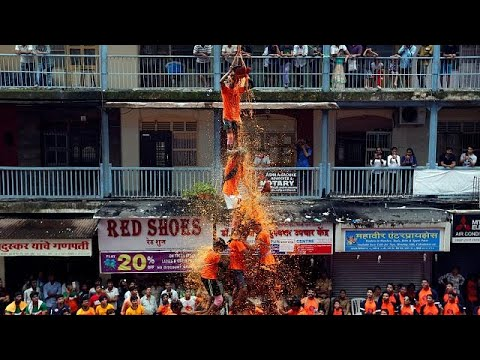 Mumbai human pyramids get high to celebrate Dahi Handi
