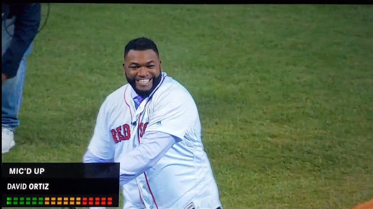 Video: David Ortiz Throws 1st Pitch, Talks to Crowd Before Yankees vs. Red Sox