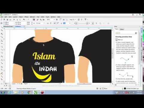 Cara Membuat Desain Baju Dengan Corel Draw x7 |  CorelDRAW Tutorials (Bahasa Indonesia)