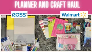 Walmart and Ross Haul | Crafts and Planner Supplies