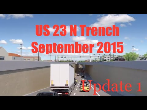 US 23 N Trench Footage At Night - Update 1 - September 2015