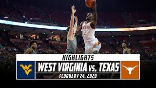No. 20 West Virginia vs. Texas Basketball Highlights (2019-20) | Stadium