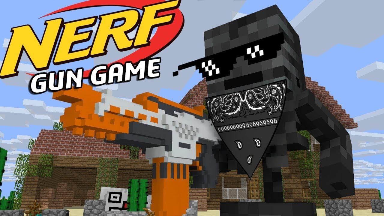 Monster School Nerf Gun Game Minecraft Animation Youtube