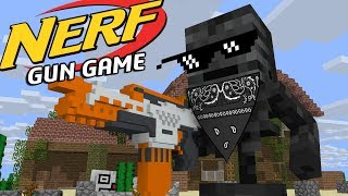 Monster school: NERF GUN GAME - Minecraft Animation