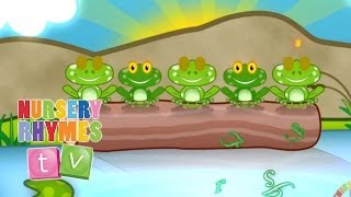 FIVE LITTLE SPECKLED FROGS | Nursery Rhymes TV. Counting song for Baby and Toddler.
