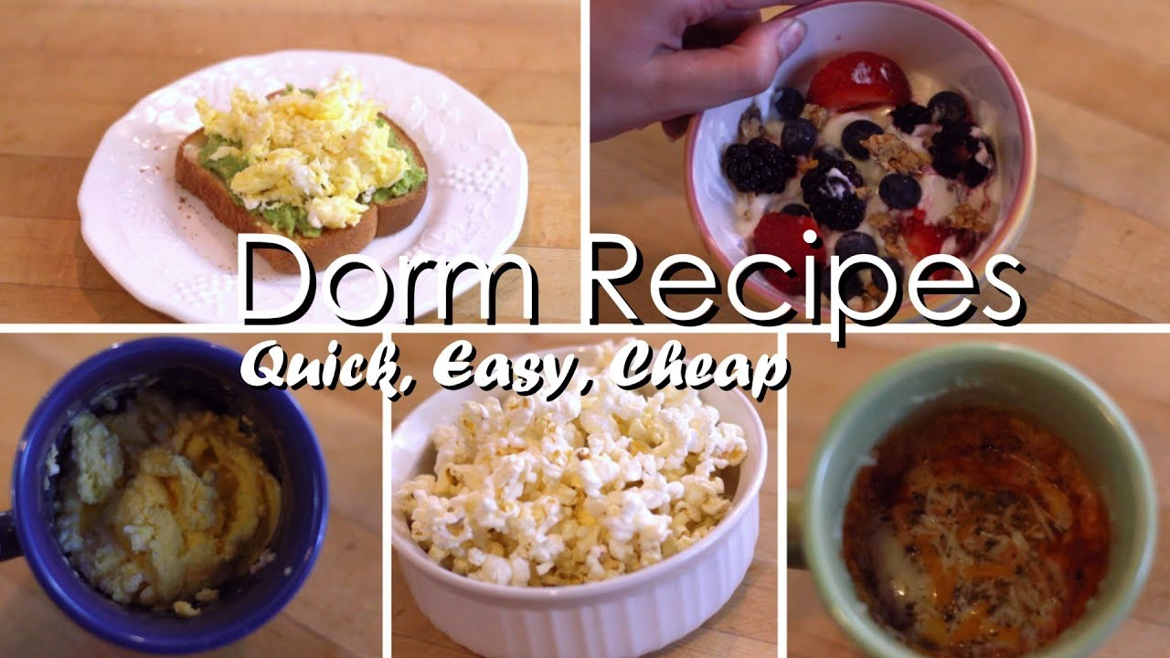 5 College Dorm Recipes Easy Meals To Make In A